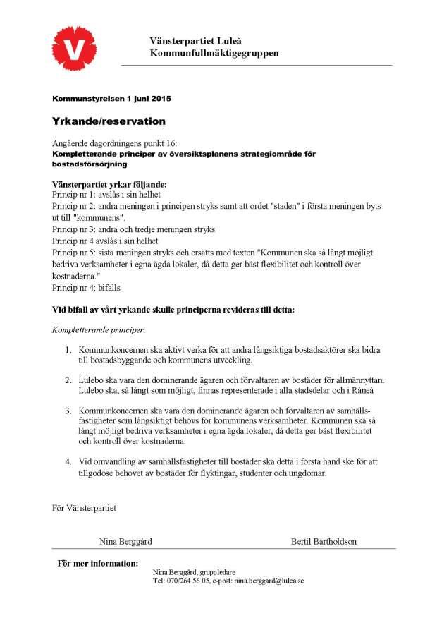 Kompletterande principer 150601